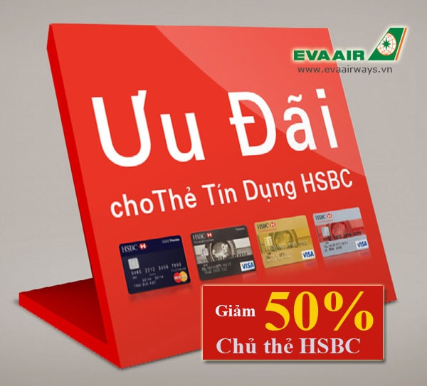 Eva Air uu dai cho chu the HSBC