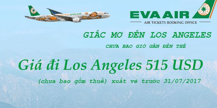 Vé máy bay đi Los Angeles 515 USD
