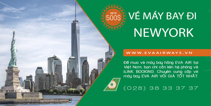 Ve may bay Eva Air di New York